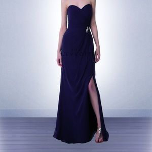 Bill Levkoff Navy bridesmaid Dress